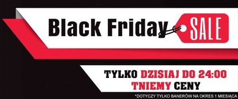 Black Friday w ono24.info. Reklamy 90% taniej.